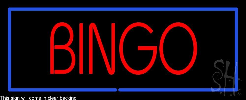Bingo Clear Backing Neon Sign 13'' Tall x 32'' Wide by The Sign Store