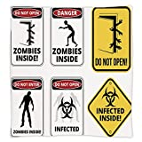 iPrint Super Soft Throw Blanket Custom Design Cozy Fleece Blanket,Zombie Decor,Warning Signs for Evil Creatures Paranormal Construction Do Not Open Artwork,Multicolor,Perfect for Couch Sofa or Bed