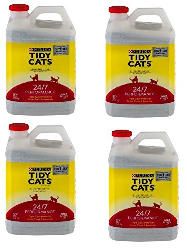 Purina Tidy Cats 24/7 Performance Clumping Cat Litter (20 lb. Jugs Pack of 4)