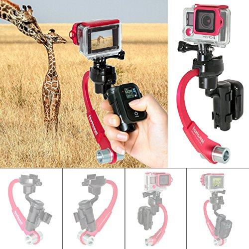 Action Camera 3-Axis Inertia Gyro Stabilizer w/Remote Contro
