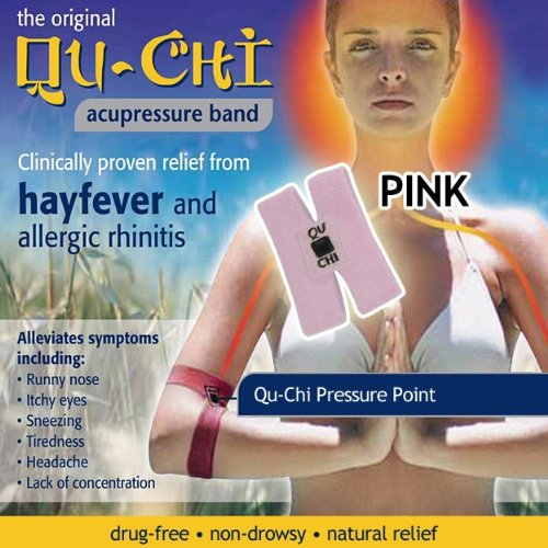 Qu-Chi Acupressure Band - Pink - Clinically Proven Relief Hayfever & Allergic Rhinitis
