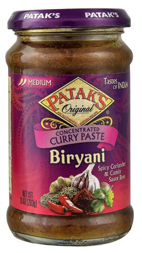 Patak's Original Biryani Curry Paste Concentrated Medium 10 oz(Pack of 2)