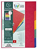 Exacompta 948225 5 Positions Punched Divider Cardboard