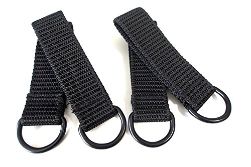 Suspender Loop Attachment,Heavy Duty Tool Belt Loops Suspender Strap Belt Connectors for Suspenders,4 Pack,Black