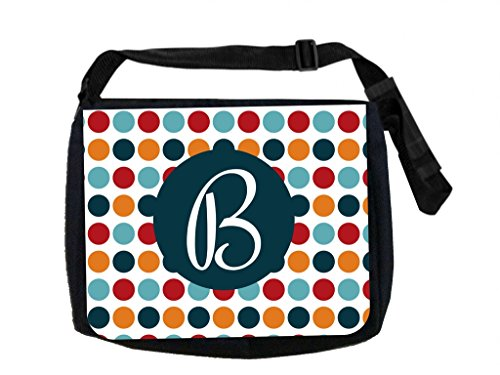 Polka Dots - Max Wilder TM Customizable Laptop Messenger Bag - Customize Yours Now!