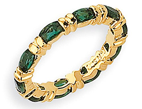 Synthetic Emerald Green Cyrstal Ring with 24K and Rhodium Plating Jacqueline Kennedy - Jacqueline Kennedy Collection