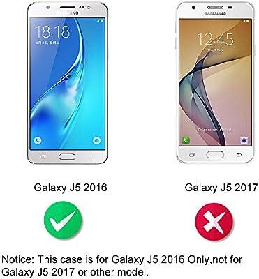Supporter Flip PU Cuir Pochette Portefeuille Housse Coque Etui pour Samsung Galaxy J5 2016 avec Crédit Carte Tenant Fente Dooki F-010 Galaxy J5 2016 Coque