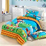 Queen Size Super Mario Kid Bedding Kids 3 Pieces Duvet Cover Set