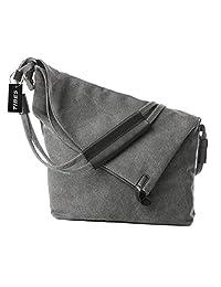Tibes Vintage Canvas Shoulder Bag Messenger Purse Handbag