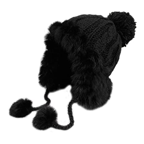 f98bc467af9 Image Unavailable. Image not available for. Color  Winter Bomber Hat Women  Russian Ushanka Aviator Trapper Snow Skiing Caps Ear Flaps ...