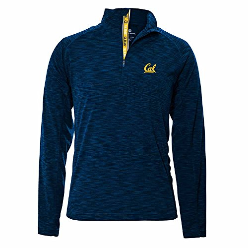 NCAA Cal Bears Mobility Team Text Quarter Zip, X-Large, Navy