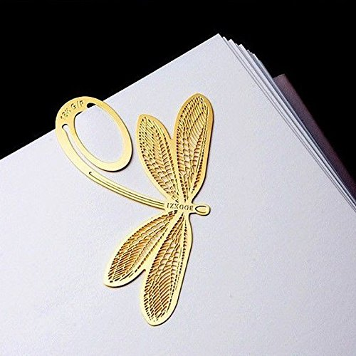 Butterfly Metal Bookmark Reading Gold Clip Bookmark Memo Pad Document Magazine Label Bookworm Book Lover Reading Marker for Kids Adult Girls Boys 2PCS (Gold)