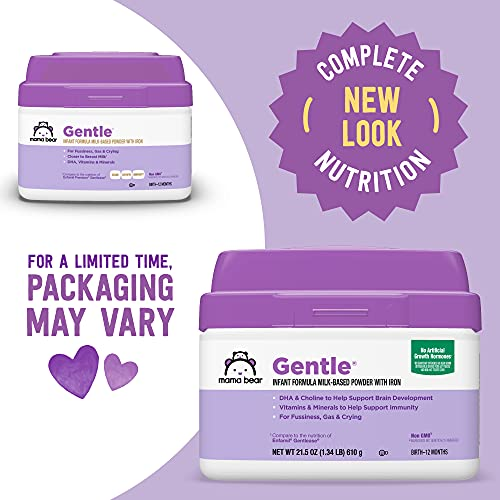 Mama Bear Gentle Baby Formula Milk-Based Powder with Iron, Complete Nutrition, Easy to Digest, 21.5 Ounce