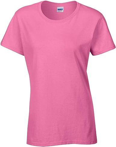 Gildan- Camiseta Missy de algodón grueso de manga corta para chica ...