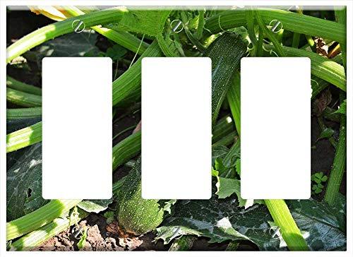 Switch Plate Triple Rocker/GFCI - Zucchini A Vegetable Pumpkin The Cultivation Of