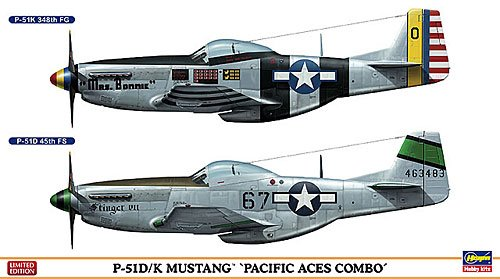 Hasegawa 2020 P-51D/K Mustang `Pacific Aces Combo` (Plastic model) (Seat Mustang Ace)