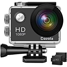 Action Camera Davola 1080P WiFi Sports Camera 12MP Underwater Waterproof Camera Wide-Angle Lens Mounting Accessory Kits