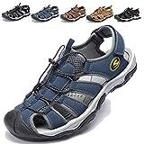 KIIU Mens Sport Athletic Sandal Closed Toe Outdoor Sandals Fishermen Sandal Water Shoes