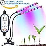 TaoSky 2018 Cycle Timing Grow Light, 3 Modes Timer Seting (4H/8H/12H) 8 Levels Dual-lamp Plant Lights with 360 Degree Flexible Gooseneck for Indoor Plants Potted Tent Hydroponics Gardening Seedlings Review
