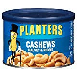 Planters Cashew Halves & Pieces, Salted, 8 Ounce Canister