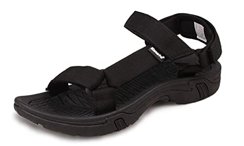 b0b2f524960f Kunsto Men s Athletic Sport Sandal US Size 7 Black