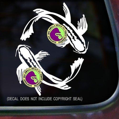 KOI CIRCLE Fish Japanese Vinyl Decal Sticker (High Quality Koi Japan)