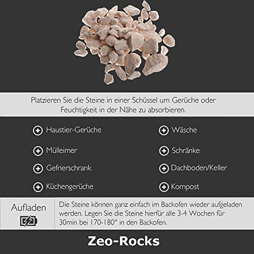 Eliminador de olores recargable hecho de rocas volcánicas de ...