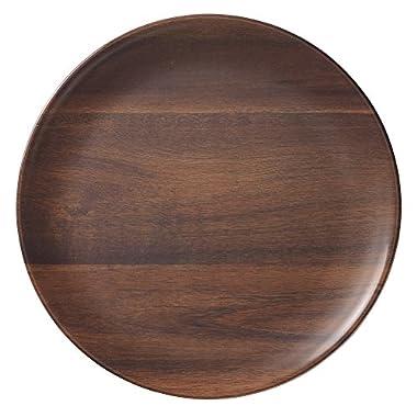 Merritt Rosewood Melamine Plates, Dinner, Set of 6