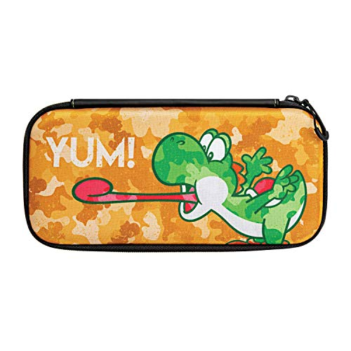 Nintendo Switch Camo Super Mario Bros Yoshi Slim Travel Case for Console and Games by PDP, 500-108