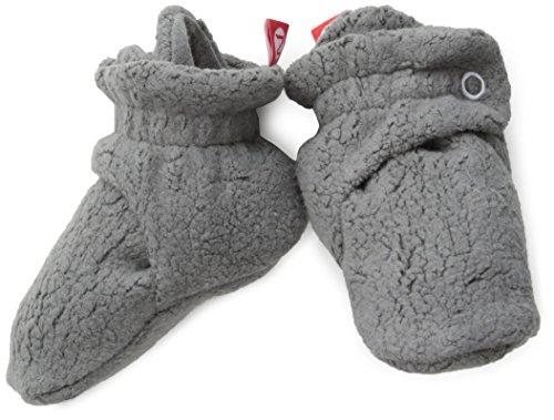 Zutano Unisex-Baby Newborn Cozie Fleece Bootie, Gray, 3 Months