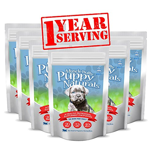 Puppy Naturals (360 Serving - 1 Year Supply) - A Healthy Nutritional Formula for Growing Puppies (For All Breeds). by Muscle Bully