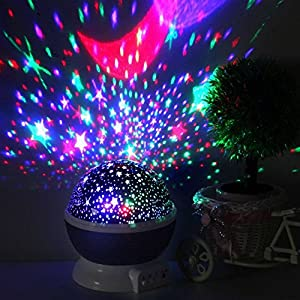 [Newest Generation] LED Night Lighting Lamp -Elecstars Light Up Your Bedroom With This Moon, Star,Sky Romantic LED Nightlight Projector, - Best Gift for Teens Kids Children Sleeping Aid(Purple)