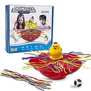 PUSITI Board Game Toys Spaghetti Draw Lots Table Game Toys for Families with Kids Colourful Noodles Balance Party Game for Adults and Children Age 6 Year and Up