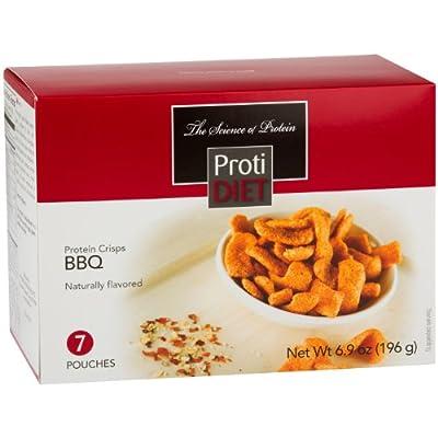 ProtiDiet Protein Crisps - BBQ (7 Servings/Box)