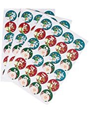 KESYOO Christmas Advent Calendar Stickers 24 Days Christmas Countdown Stickers Number Sticker Cookies Candy Bag Sealing Sticker for Holiday Party Favors DIY Craft 10 Sheets