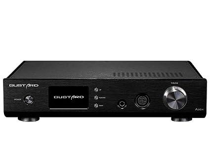 GUSTARD A20H AK4497EQ XMOS DSD256 384 KHz HiFi DAC Amplificador de Auriculares decodificador (Negro)