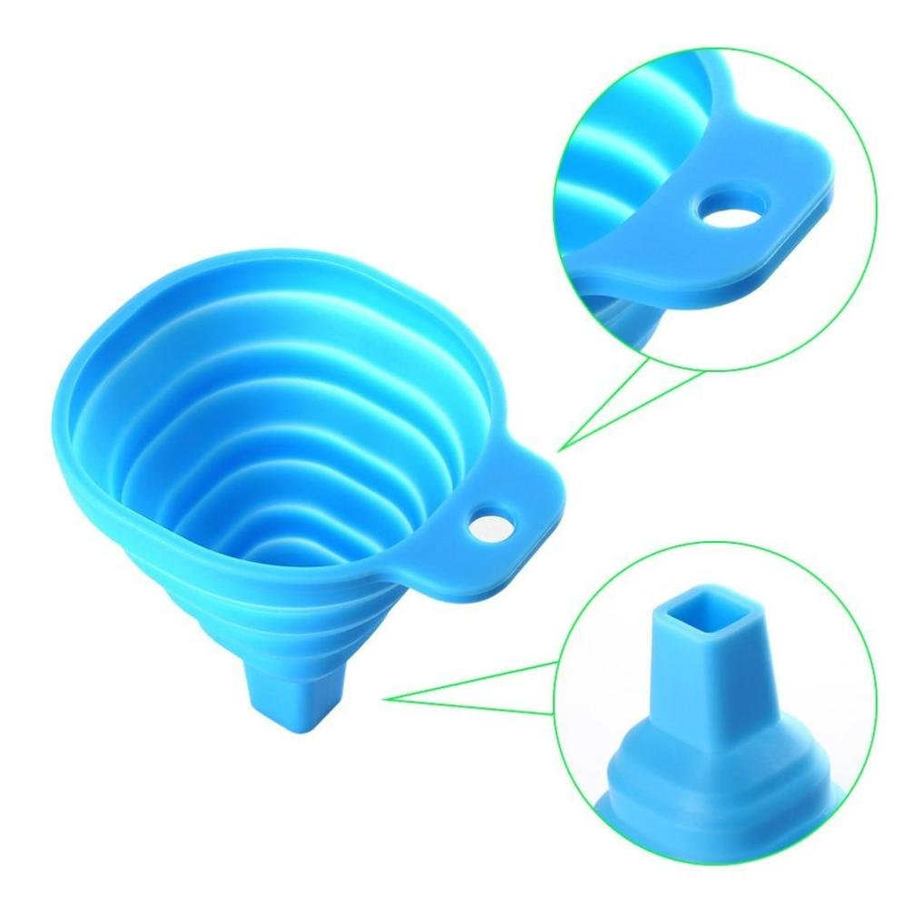 Bomdes 2pc Silicone Collapsible Funnel Cup for Liquid Transfer 100% Food Grade Silicone Hao Tech