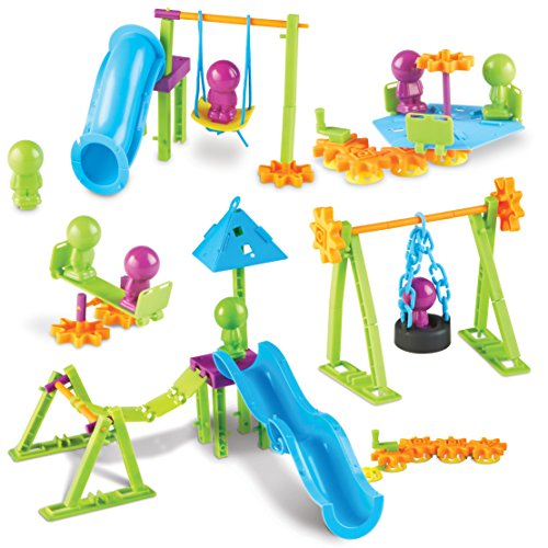 Learning Resources Playground Engineering   Design Stem Set  104 Pieces