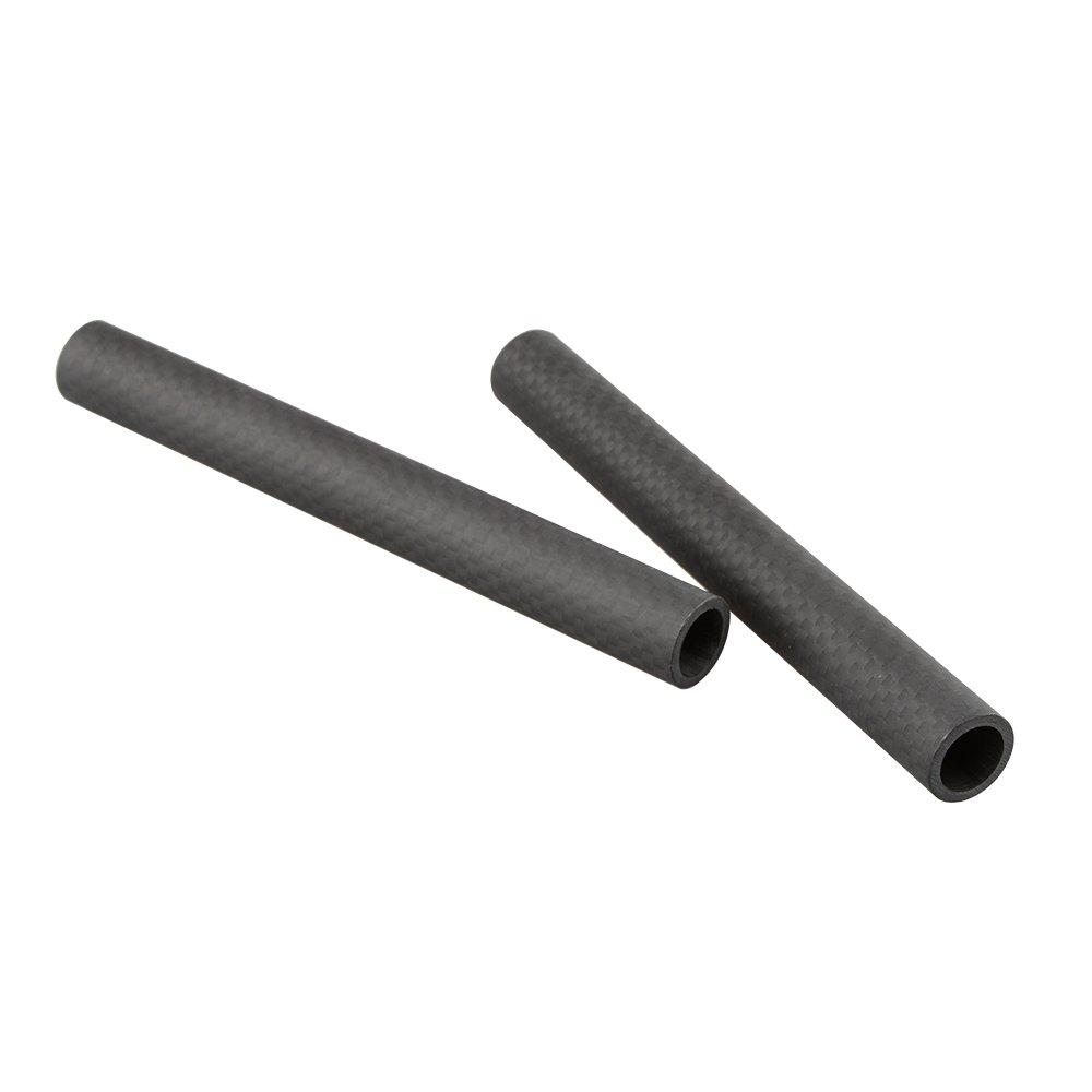 CAMVATE 15mm Carbon Fiber Rod 5'' Long for DSLR Camera Rig Cage Shoulder Support(2 pack )