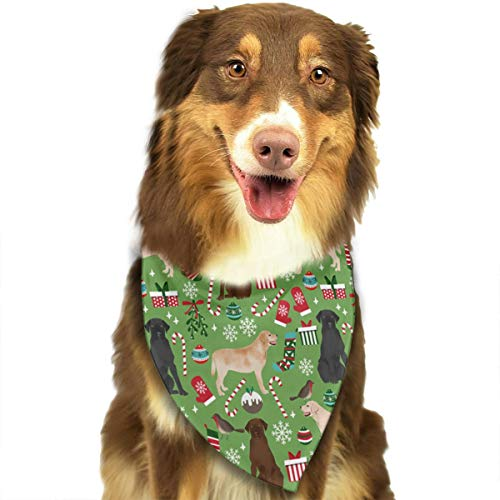 OURFASHION Labradors Retrievers Dogs Christmas Bandana Triangle Bibs Scarfs Accessories for Pet Cats and Puppies.Size is About 27.6x11.8 Inches (70x30cm). ()