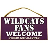 NCAA Fans Welcome Wood Sign