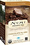 Numi Organic Tea Chocolate Pu-erh, 16 Count Box of Tea Bags, Black Tea