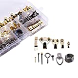 Professional Picture Hangers, Sevrwell 141-Pcs Heavy Duty Assorted Picture Hanging Hooks Kit with Screws,Picture Hanging Nails Assortment Kit for Picture Hanging Solutions - Holds 5-100 lbs