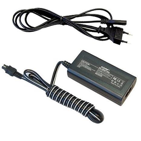 HQRP Cargador / Adaptador de CA para Sony HandyCam AC-L20 L20A L20B AC-L25 L25A L200C DCR-SX41 SR40 SR42 SR44 SR88 HC21 HC28 DVD650 Videocámara