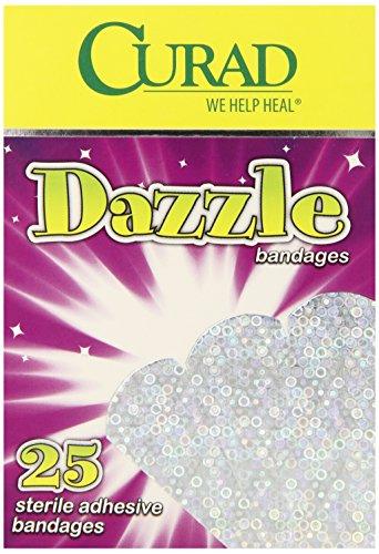 Curad Dazzle Bandage, 25 Bandages per Box,  (Pack of 6) ()