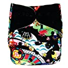 Bamboo All In One Cloth Diaper with Pocket, Sea