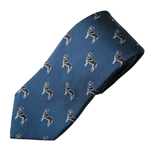 Siberian Husky Tie (Men's Dog Breed Neck Tie) (Club Kennel Siberian Husky)