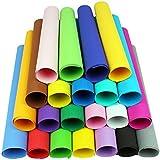 66fogli carta di spugna 50x 50cm 22colori grande schiuma Papier geschnittene handgemachte DIY Scrapbooking Kindergarten EVA Papier