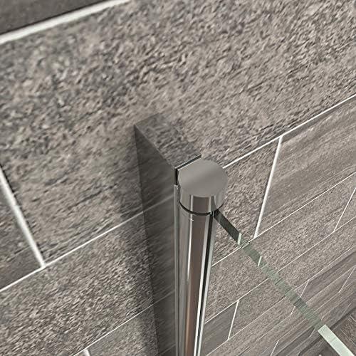 EMKE - Cabina de ducha para esquina, puerta de ducha con péndulo, con nanorevestimiento en ambos lados, 195cm, 90 x 90 cm: Amazon.es: Hogar