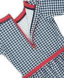 RuffleButts Baby/Toddler Girls Navy Gingham Skirted